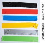 set of yellow  green  black... | Shutterstock . vector #1693745755