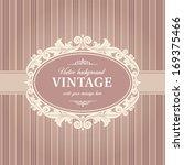 vintage background frame... | Shutterstock .eps vector #169375466