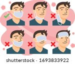 correct way to wear the mask... | Shutterstock .eps vector #1693833922
