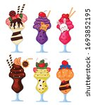ice cream with colorful toppings | Shutterstock .eps vector #1693852195