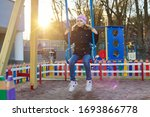 girl child 8  9 years old on...   Shutterstock . vector #1693866778