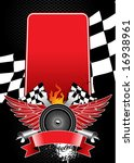 poster for racing competitions. ... | Shutterstock .eps vector #16938961