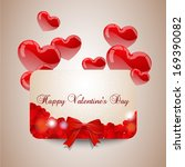 valentines day card width red... | Shutterstock .eps vector #169390082