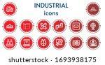 editable 14 industrial icons... | Shutterstock .eps vector #1693938175
