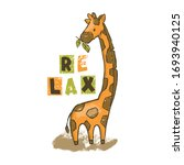Giraffe Cartoon Savannah Anima...