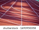 Red Running Sport Track...