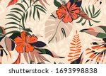 hand drawn abstract floral... | Shutterstock .eps vector #1693998838