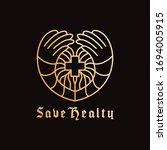 healthy logo design vector... | Shutterstock .eps vector #1694005915