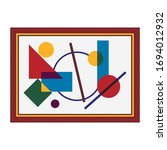 picture brown frame icon cubism ...   Shutterstock .eps vector #1694012932