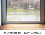 Window And Wide Wooden Window...