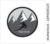people skiing with a mountain... | Shutterstock .eps vector #1694030125