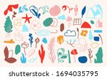 abstract floral seamless...   Shutterstock .eps vector #1694035795