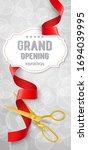 grand opening invitation... | Shutterstock . vector #1694039995