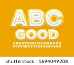 vector good yellow and white... | Shutterstock .eps vector #1694049208