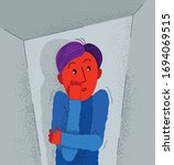 claustrophobia fear of closed... | Shutterstock .eps vector #1694069515
