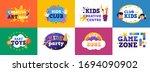 kids club banner. children play ... | Shutterstock .eps vector #1694090902