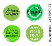 fresh healthy organic vegan... | Shutterstock .eps vector #1694097475