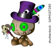 voodoo shaman doll colorful...