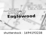 Englewood on a geographical map of USA