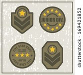junior division army patches | Shutterstock .eps vector #169421852