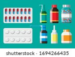 medicine collection. set of... | Shutterstock .eps vector #1694266435