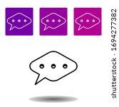 bubble speech icon. simple...