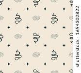 celestial boho seamless pattern ... | Shutterstock .eps vector #1694302822