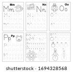 set of black and white... | Shutterstock .eps vector #1694328568