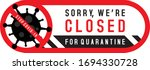 sorry we are closed for... | Shutterstock .eps vector #1694330728