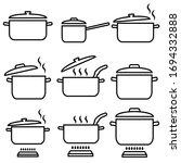 pan  saucepan line set icon  ... | Shutterstock .eps vector #1694332888