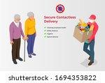 isometric contactless... | Shutterstock .eps vector #1694353822