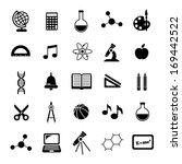 black school icons  | Shutterstock . vector #169442522
