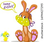 Cute Bunny And Chicken Wish You ...