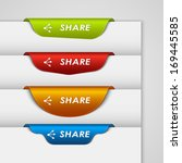 color label bookmark share on...   Shutterstock .eps vector #169445585