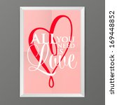 happy valentines day cards with ... | Shutterstock .eps vector #169448852