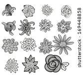set of flower. | Shutterstock .eps vector #169448858