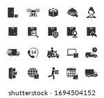 vector set of delivery flat... | Shutterstock .eps vector #1694504152
