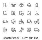 vector set of delivery line... | Shutterstock .eps vector #1694504155