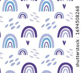 seamless pattern with cute... | Shutterstock .eps vector #1694508268