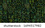 ecology seamless pattern.... | Shutterstock .eps vector #1694517982