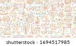 autumn collection  seamless... | Shutterstock .eps vector #1694517985