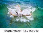 Young Girl Child Jumping On A...
