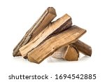 Stacked Pine Firewoods Isolated ...