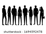 set of vector silhouettes of ... | Shutterstock .eps vector #1694592478