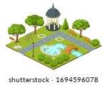 Isometric Park Vector...