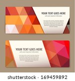 set of colorful banners with... | Shutterstock .eps vector #169459892