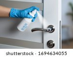 Door handle disinfection for...