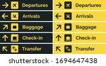 airport sign departure arrival... | Shutterstock .eps vector #1694647438
