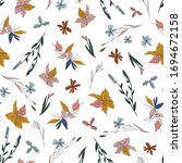 vector seamless pattern with... | Shutterstock .eps vector #1694672158