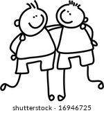 buddies   vector | Shutterstock .eps vector #16946725